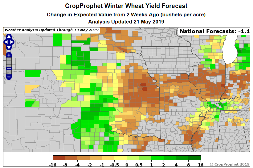CropProphet winter wheat expect change.