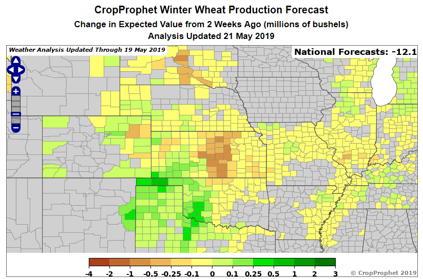 CropProphet Winter Wheat Production forecast.